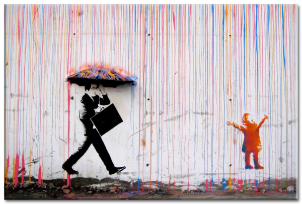 image de Banksy « Colored Rain »